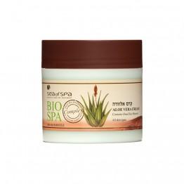 Crema cu Aloe Vera, contine minerale din Marea Moarta pentru toate tipurile de piele, BIO SPA, 250ml