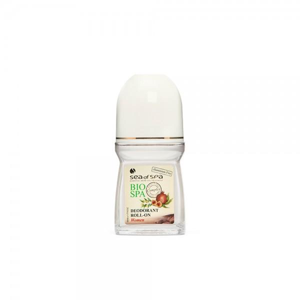 Deodorant Roll-On pentru Femei, Imbogatit cu extract de Rodie, Masline si Smochine, BIO SPA, 50ml