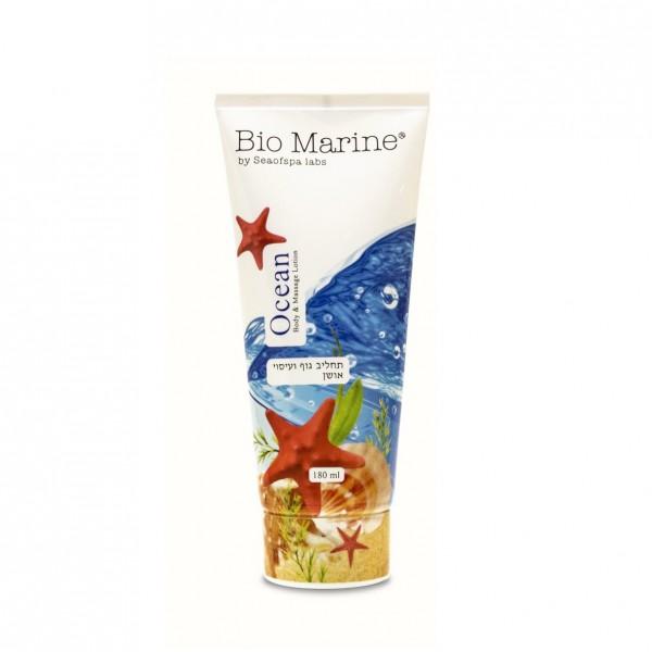 Lotiune de Corp si Masaj, Ocean, pentru toate tipurile de piele, Bio Marine, 180ml