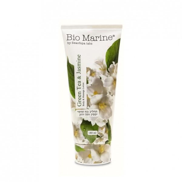 Lotiune de Corp si Masaj cu Ceai verde si Iasomie, pentru toate tipurile de piele, Bio Marine, 180ml