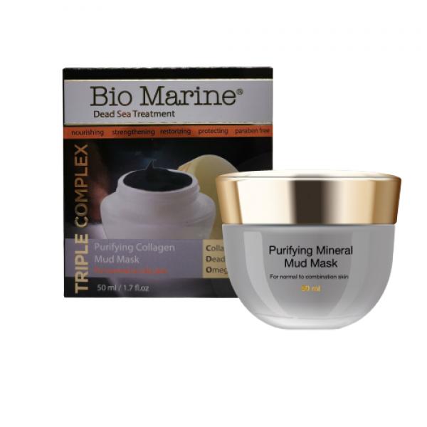 Masca din Namol Negru cu Colagen, pentru ten normal si mixt, Bio Marine, 50ml