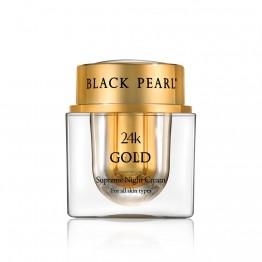 Supreme Night Cream with 24K Gold, Black Pearl, 50 ml
