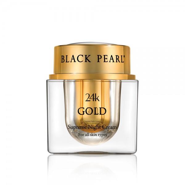 Crema Suprema de Noapte cu Aur 24K, Black Pearl, 50 ml