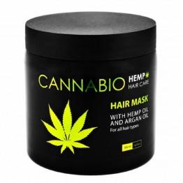 Hair Mask with Hemp Oil and Argan Oil, Cannabio, 500ml