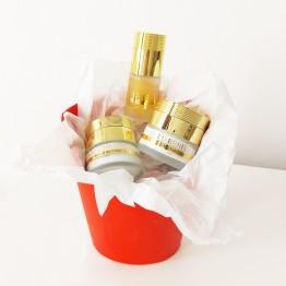 Gift Set - Gold Benefits - 24K Gold Moisturizing Night Cream + 24K Gold Delicate Eye Cream + 24K Gold Face and Eye Serum