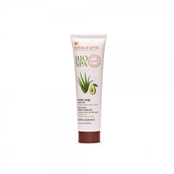 Crema pentru Picioare Anti-Crack Îmbogățită cu Ulei de Avocado & Aloe Vera, BIO SPA, 100ml